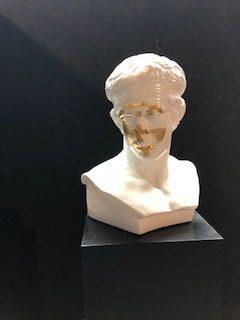 """Fabio Weik - """"Venere Mediateca Dorata"""" Sculpture"""
