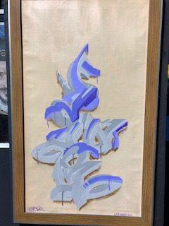 """SEYAR - Canvas """"Purple Smoothie"""""""