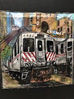 Emte One - Large Canvas Subway